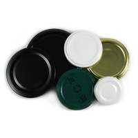 53 mm Twist Top Lids - Flat