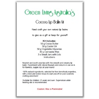 Instructions - Cocoa Butter Lip Balm Kit