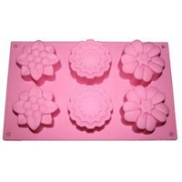 Soap Mould - Mixed Flower (6 Cavity)