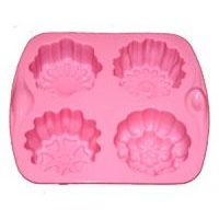 Soap Mould - Fancy Rounds (4 Cavity)