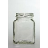 Jar-270ml Flint Glass Square Food Jar 63mm Twist Finish