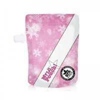 My Lil Pouch - Reusable Food Pouches - 'Pink Snowflake' 100ml - Pack of 5