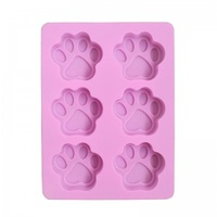 Soap Mould - Puppy Paws (6 Cavity)