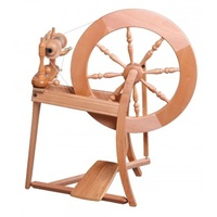 Traditional Spinning Wheel Single Drive - Natural