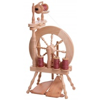 Traveller Spinning Wheel Double Treadle Single Drive - Natural