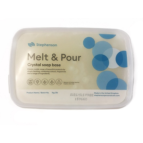 Crystal Melt & Pour Soap Base - Translucent (SLES & SLS Free)