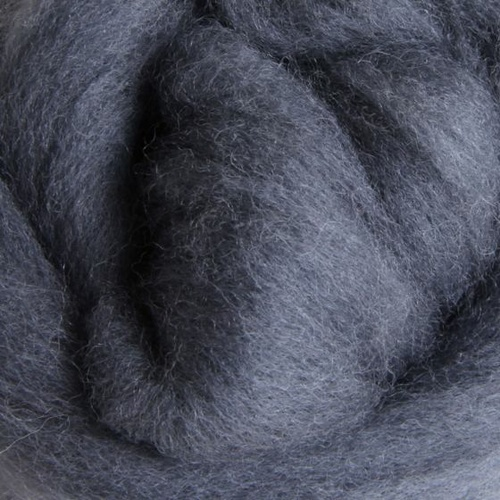 Corriedale Sliver - Grey - 100 grams