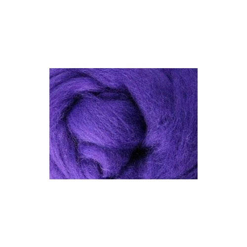 Corriedale Sliver - Purple - 100 grams