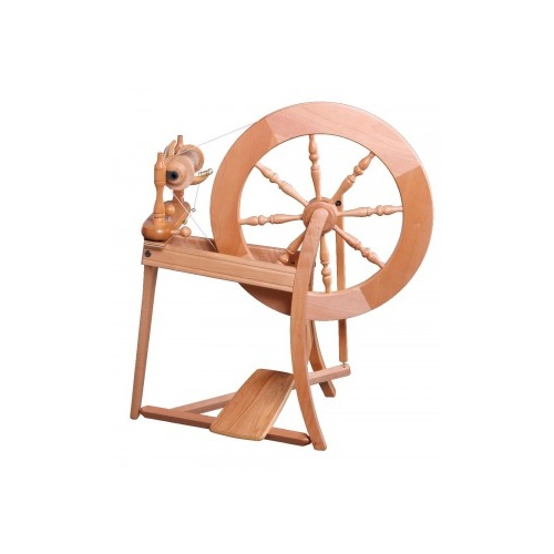 Traditional Spinning Wheel Single Drive  - Lacquered