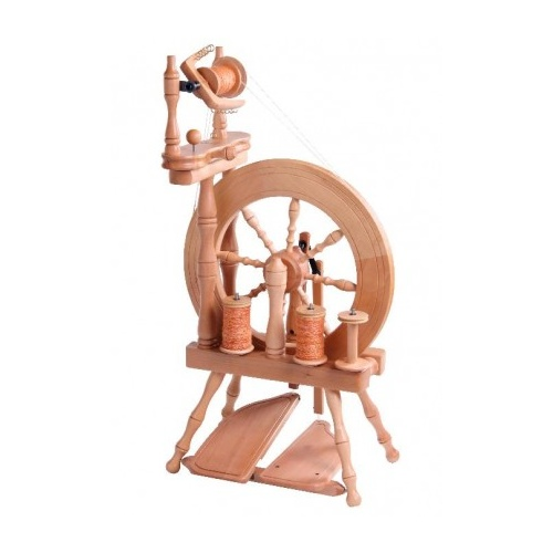 Traveller Spinning Wheel Double Treadle Double Drive - Natural